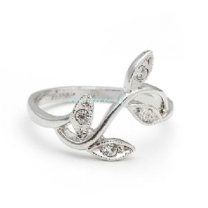 Silver leaves ring, (jr12)